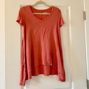Mudd coral pink casual top size XS